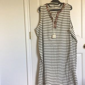 Target black and white striped sleeveless dress